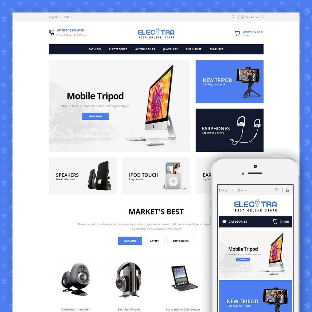 theme - Elektronica & High Tech - Electra Store - 1