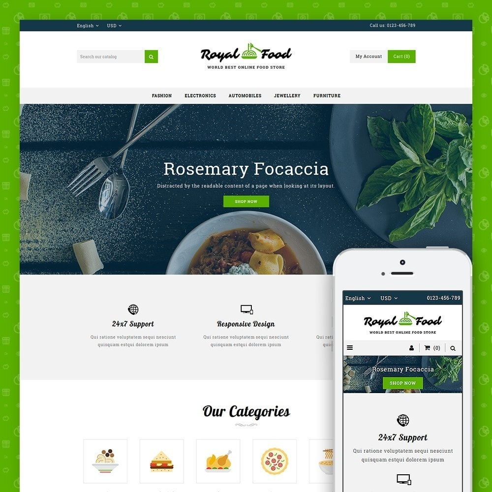 theme - Cibo & Ristorazione - Food and Restaurant Store - 1