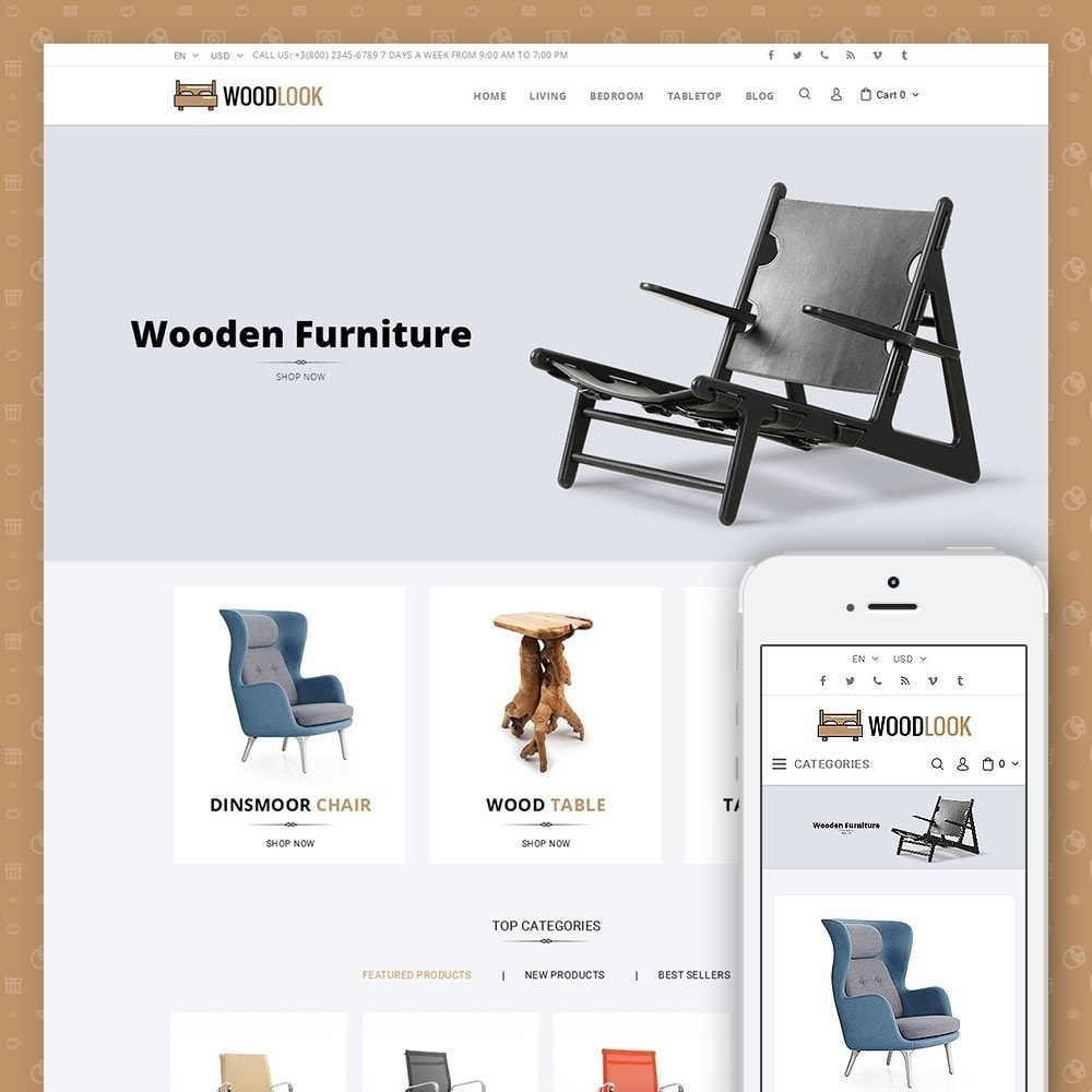 theme - Casa & Jardins - Woodlook Online Furniture Store - 1