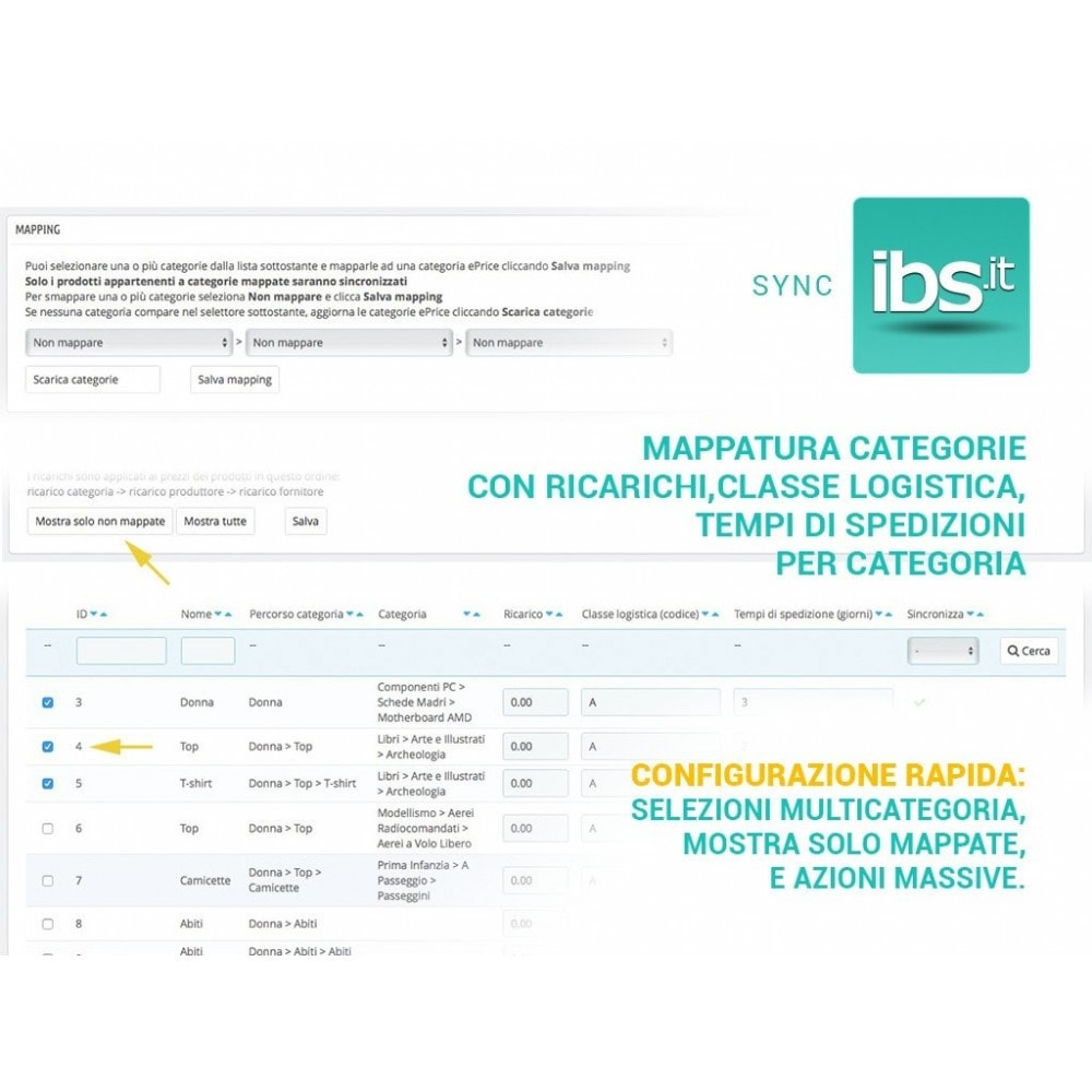 module - Marketplace - Sincronizza PrestaShop con il marketplace IBS.it - 2