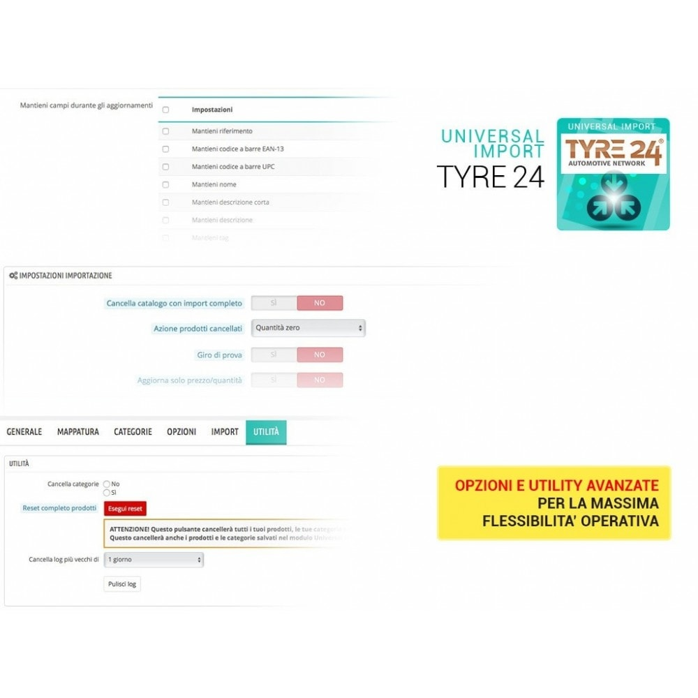 module - Data Import & Export - Importa dropshipping Tyre24 in Prestashop - 2