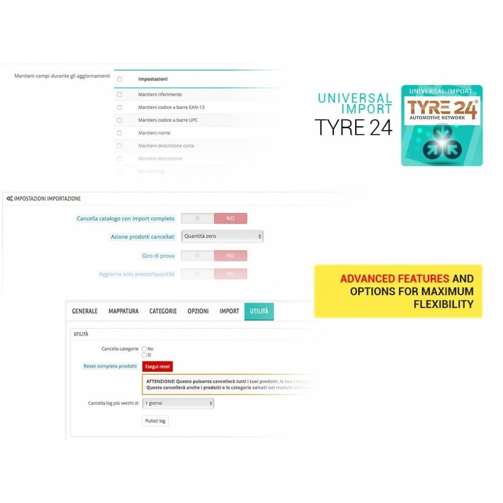 module - Import & Eksport danych (csv, pdf...) - Import from Tyre24 dropshipping to Prestashop - 2