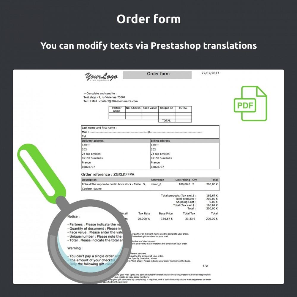 module - Zahlung per Kreditkarte oder Wallet - Gift card Payment - 7