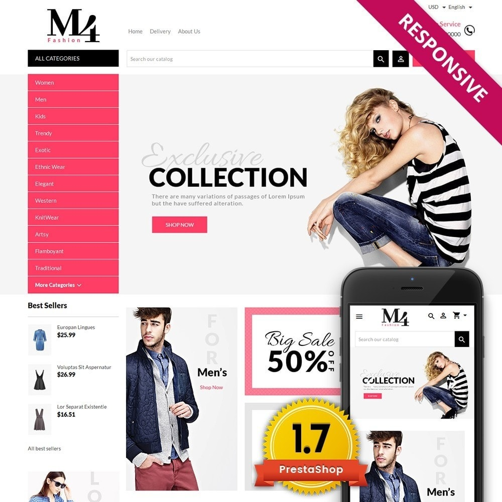 theme - Mode & Schoenen - M4 Fashion Store - 1