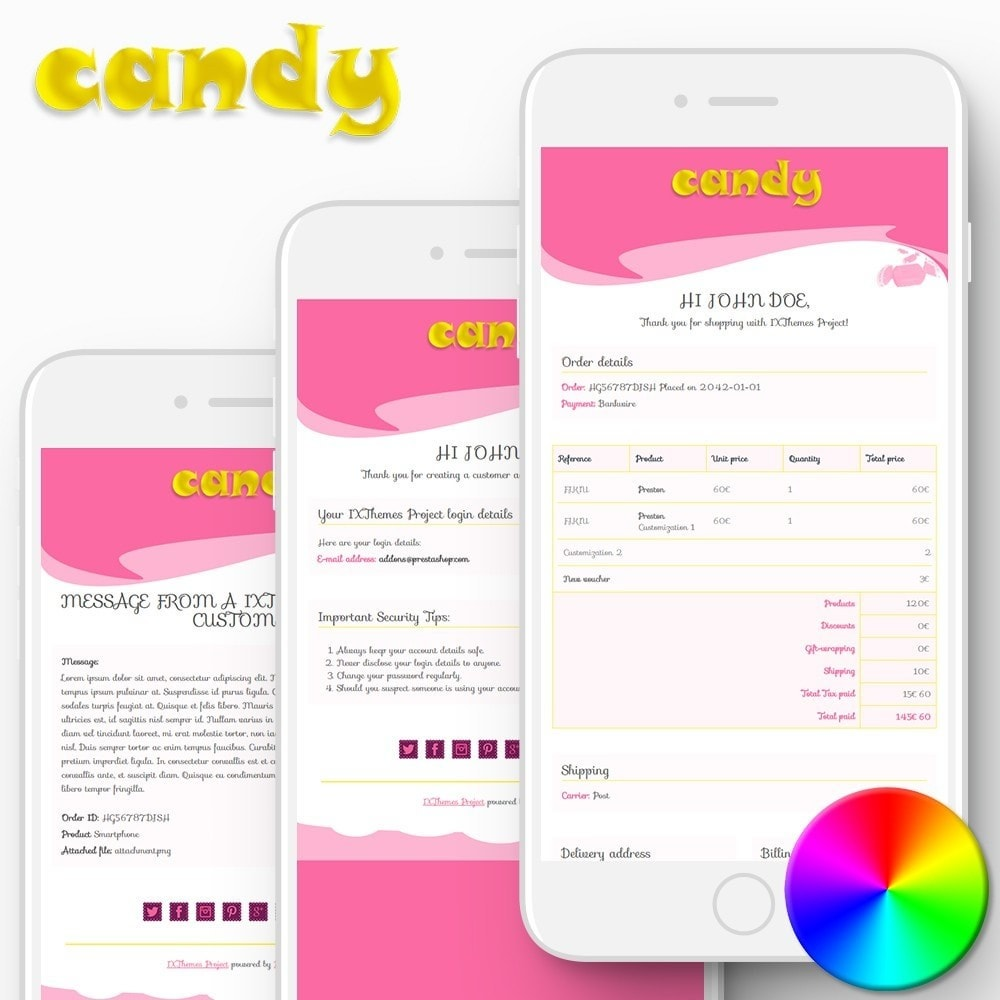 email - PrestaShop email templates - Candy - Email templates - 1