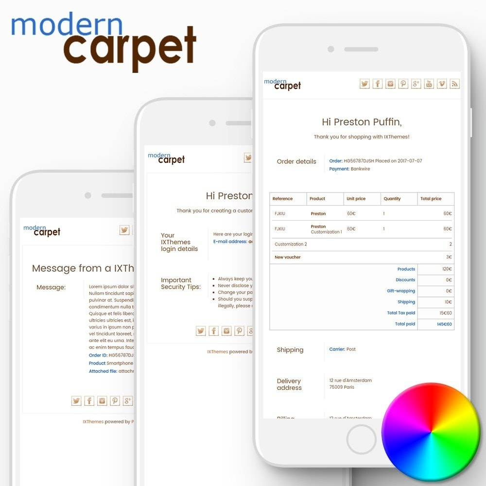 email - Template di e-mail PrestaShop - Modern Carpet - Email templates - 1