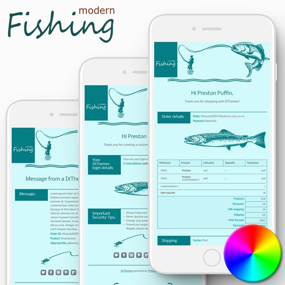 email - Template di e-mail PrestaShop - Modern Fishing - Email templates - 1