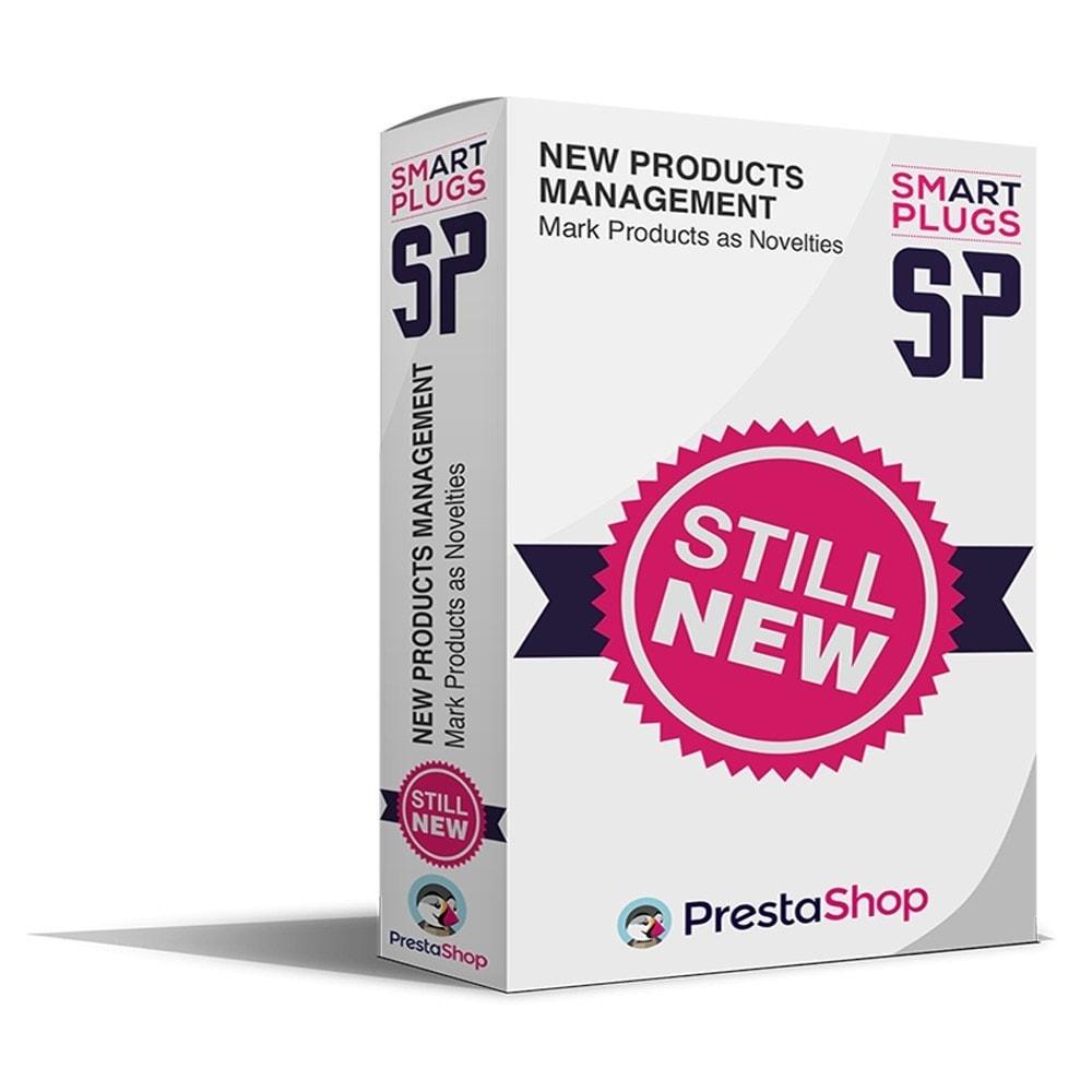module - Outils d'administration - New Products Management, affichage nouveaux produits - 1