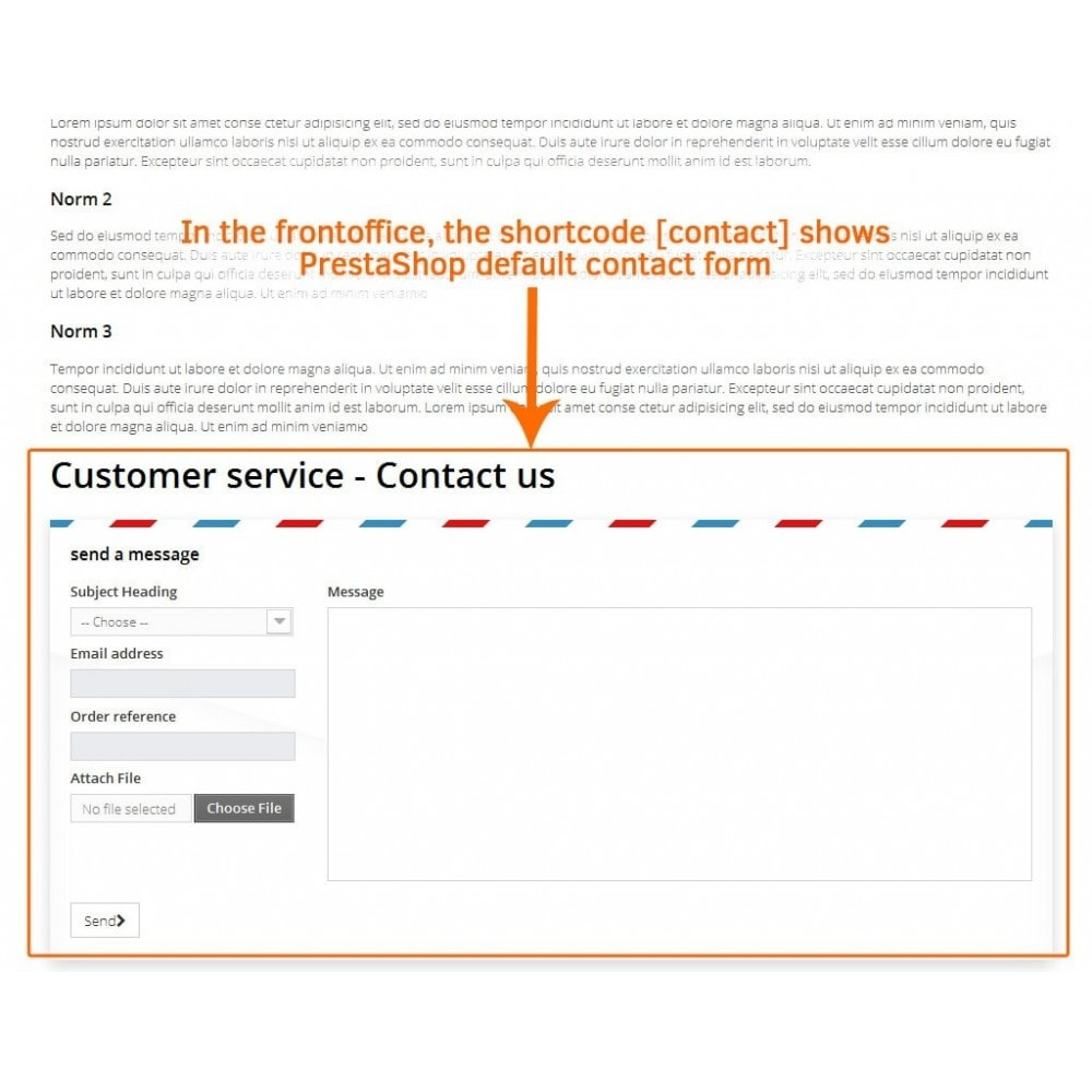 module - Contact Forms & Surveys - Contact form in CMS pages - 3