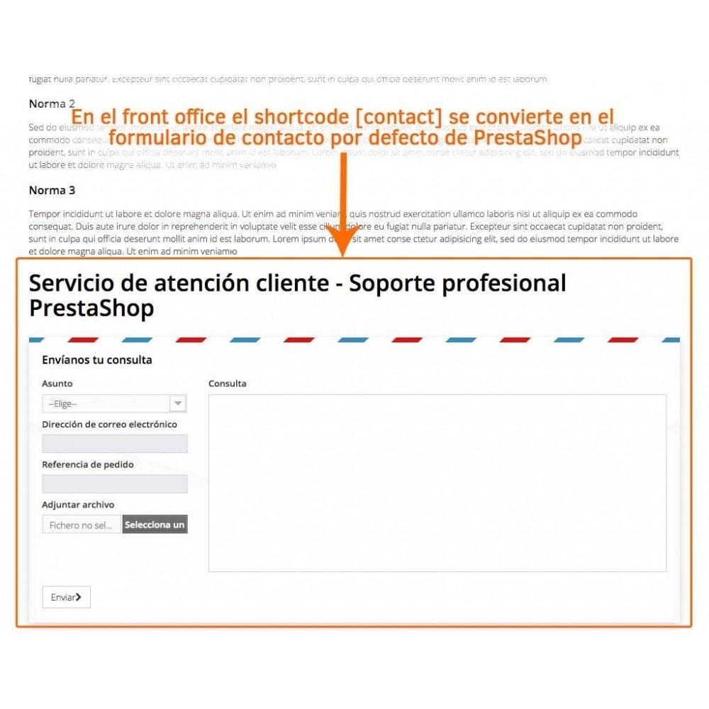 module - Formulario de contacto y Sondeos - Formulario de contacto en páginas CMS - 3