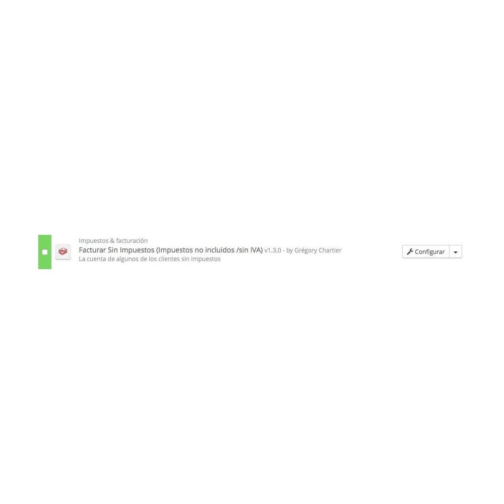 module - Contabilidad y Facturas - Facturar Sin Impuestos (Impuestos no incl /sin IVA) - 3