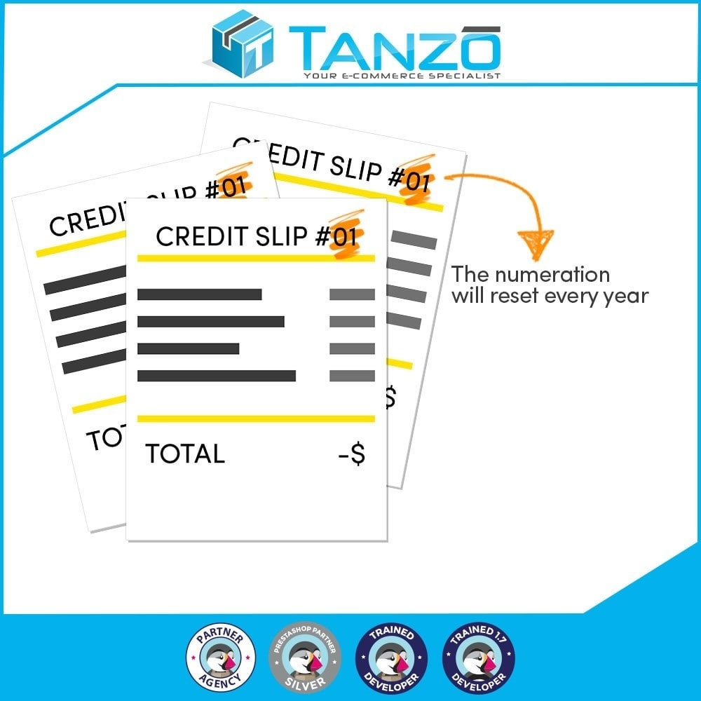 module - Accounting & Invoicing - Reset credit slip numbering - 1