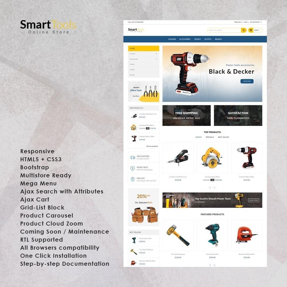 theme - Home & Garden - Smart Tools Store - 1