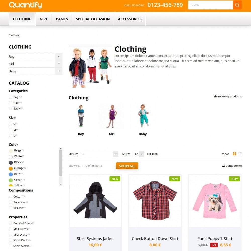 theme - Kinderen & Speelgoed - Quantify - Kids Clothes - 4