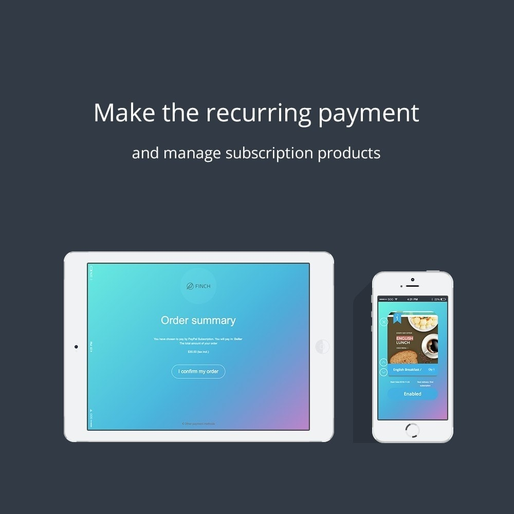 module - Recurring payment (subscription) - ChargeMe - 8