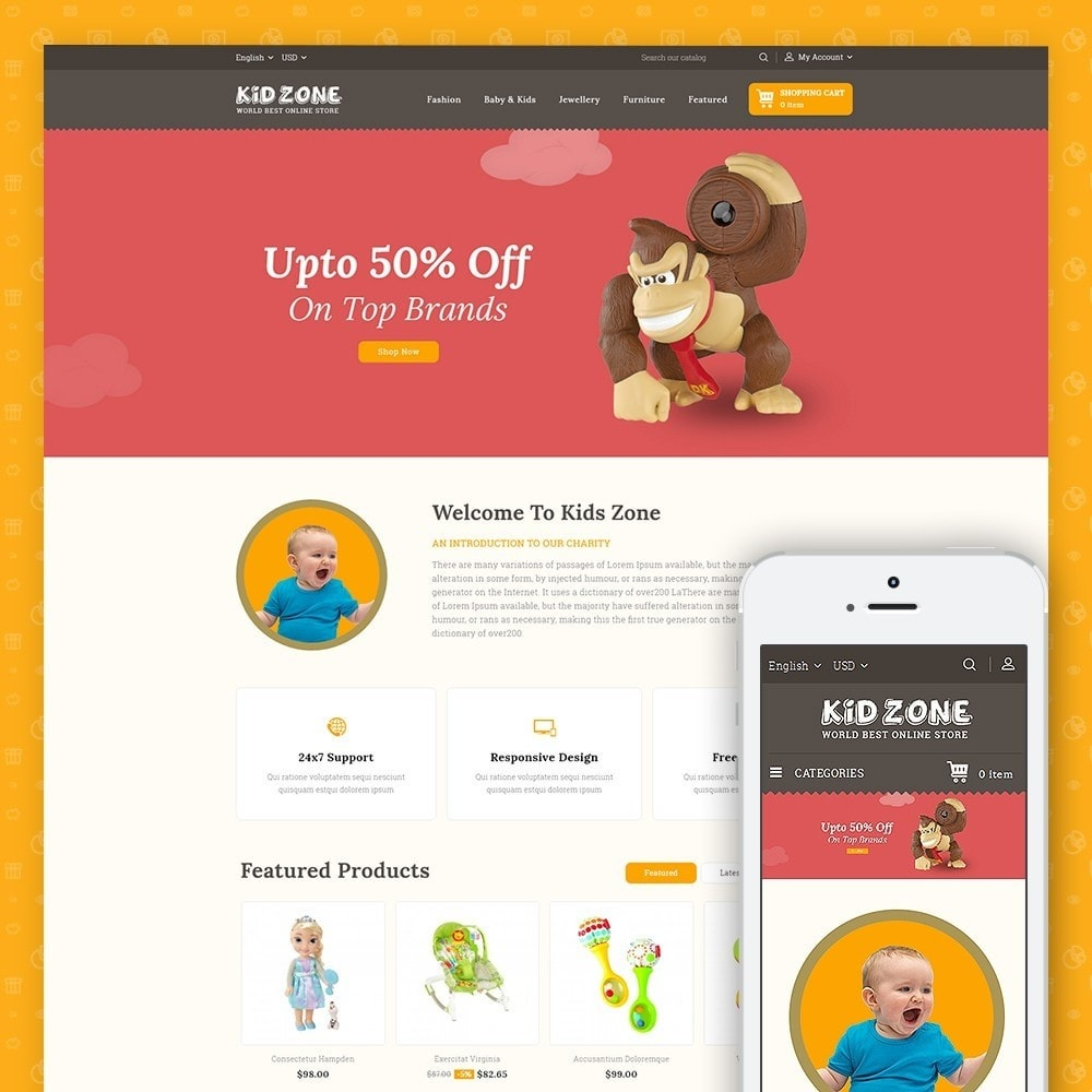 theme - Kinderen & Speelgoed - Kid Zone Online Store - 1
