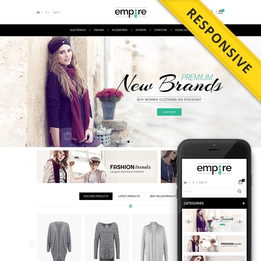 theme - Moda & Obuwie - Empire Shop - 1