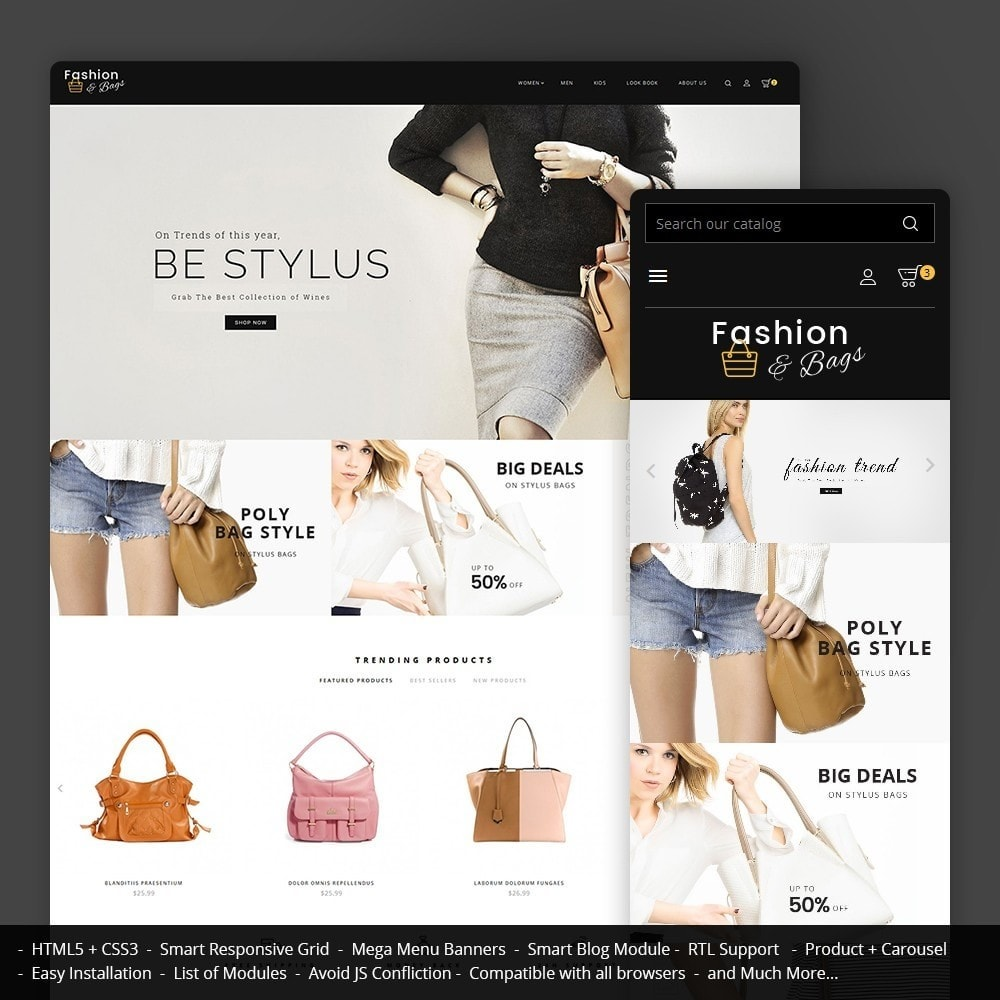 theme - Мода и обувь - Fashion Bag Store - 1