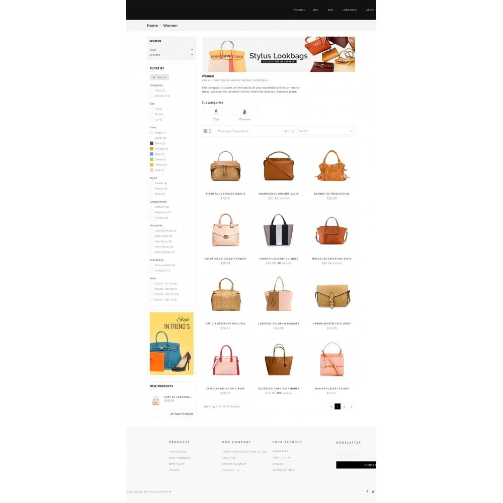 theme - Мода и обувь - Fashion Bag Store - 3