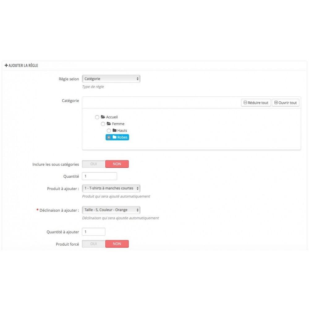 module - Ventes croisées & Packs de produits - Ajout automatique de produit au panier(assurance, etc.) - 5
