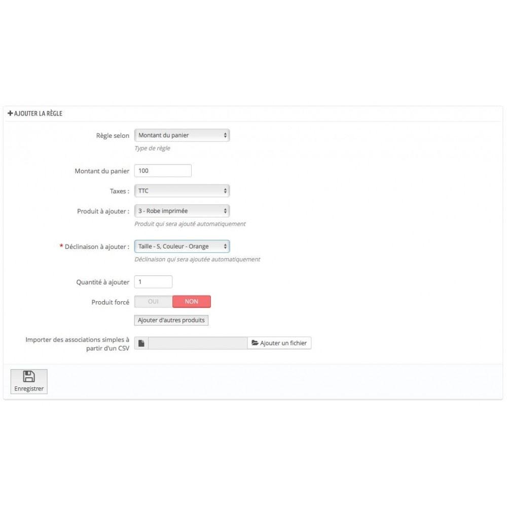 module - Ventes croisées & Packs de produits - Ajout automatique de produit au panier(assurance, etc.) - 6