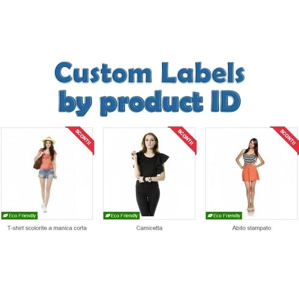 module - Emblemas e logotipos - Custom Labels by Product IDs - 1