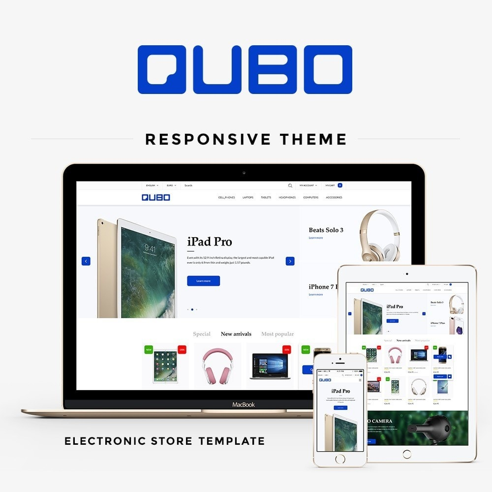 theme - Elektronika & High Tech - Qubo - High-tech Shop - 1