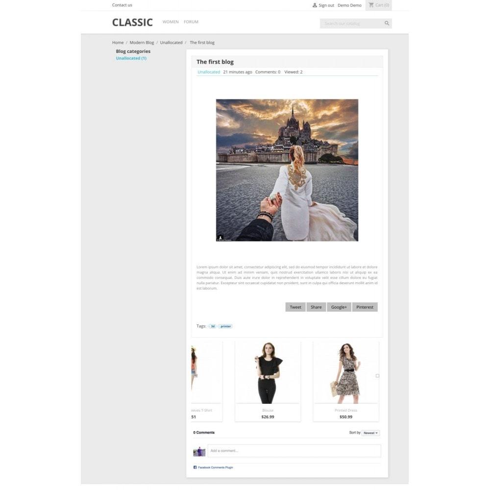 module - Blog, Forum & Aktualności - Modern Blog - Social comments - 7