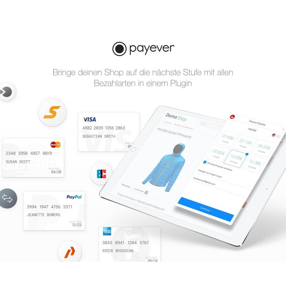 module - Zahlung per Kreditkarte oder Wallet - payever - Kreditkarte, Rechnungskauf, Ratenkauf, ELV - 3