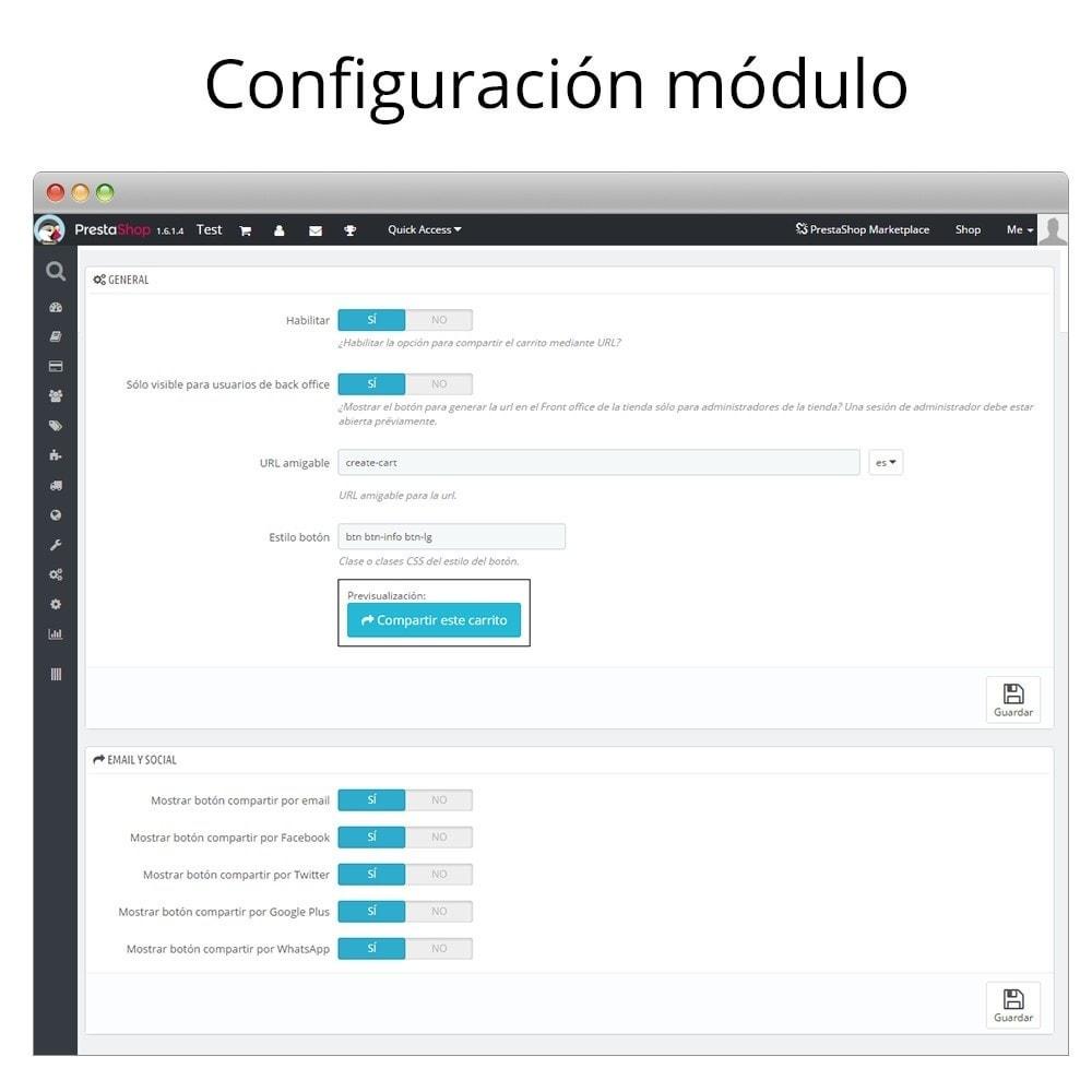 module - Compartir contenidos y Comentarios - Compartir el carrito - Enlázalo en newsletters, foros - 2