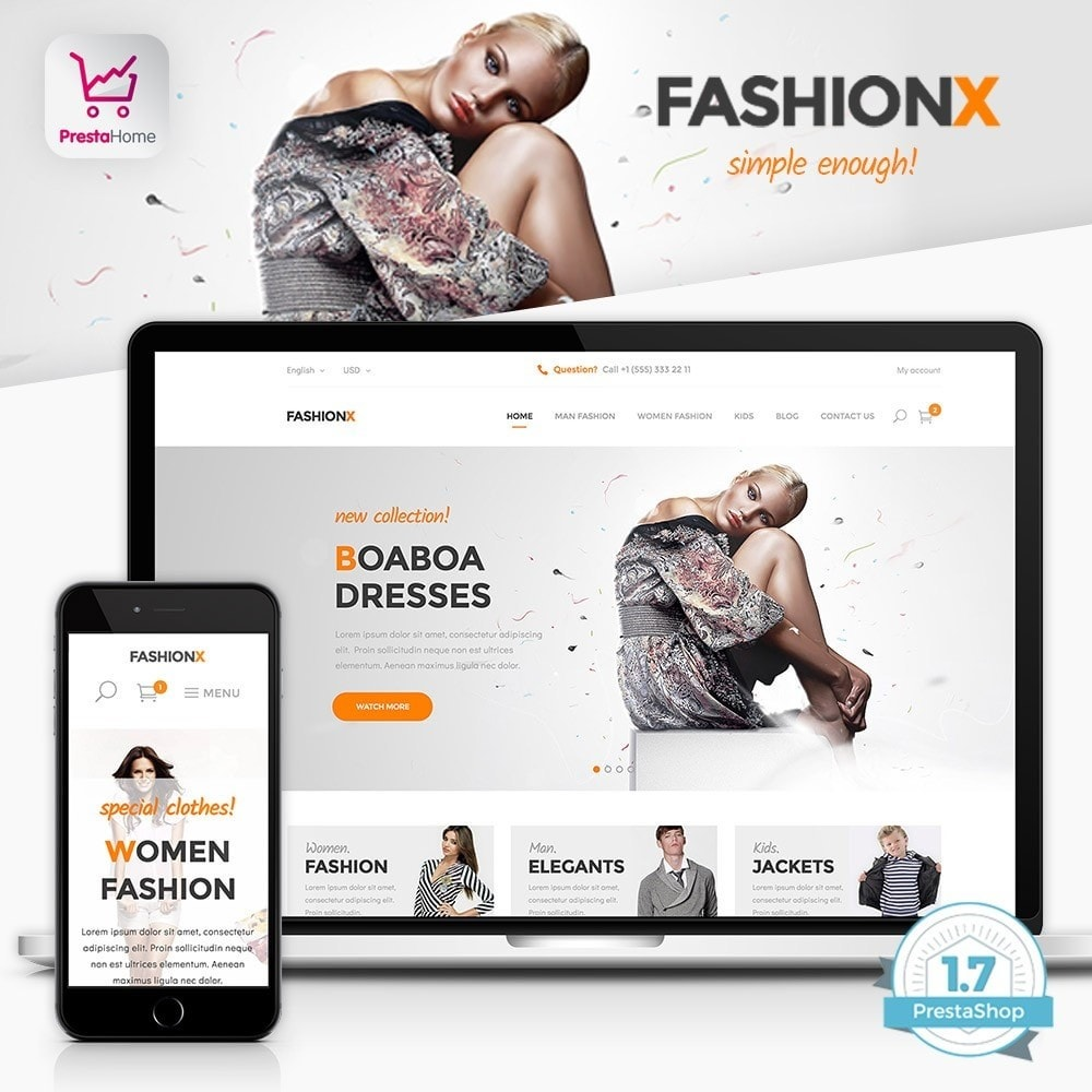theme - Moda y Calzado - FashionX - Fashion, Clothes, Boutique Store - 1
