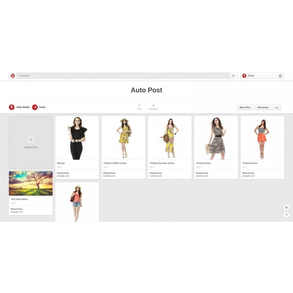 module - Compartir contenidos y Comentarios - Auto-Post Products to Pinterest - 1