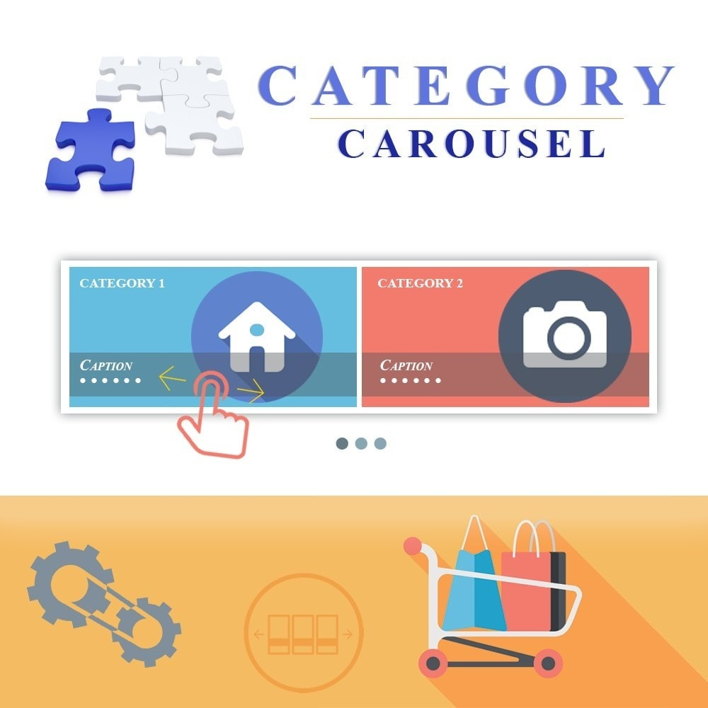 module - Gallerijen & Sliders - Responsive Carousel with Categories - 1