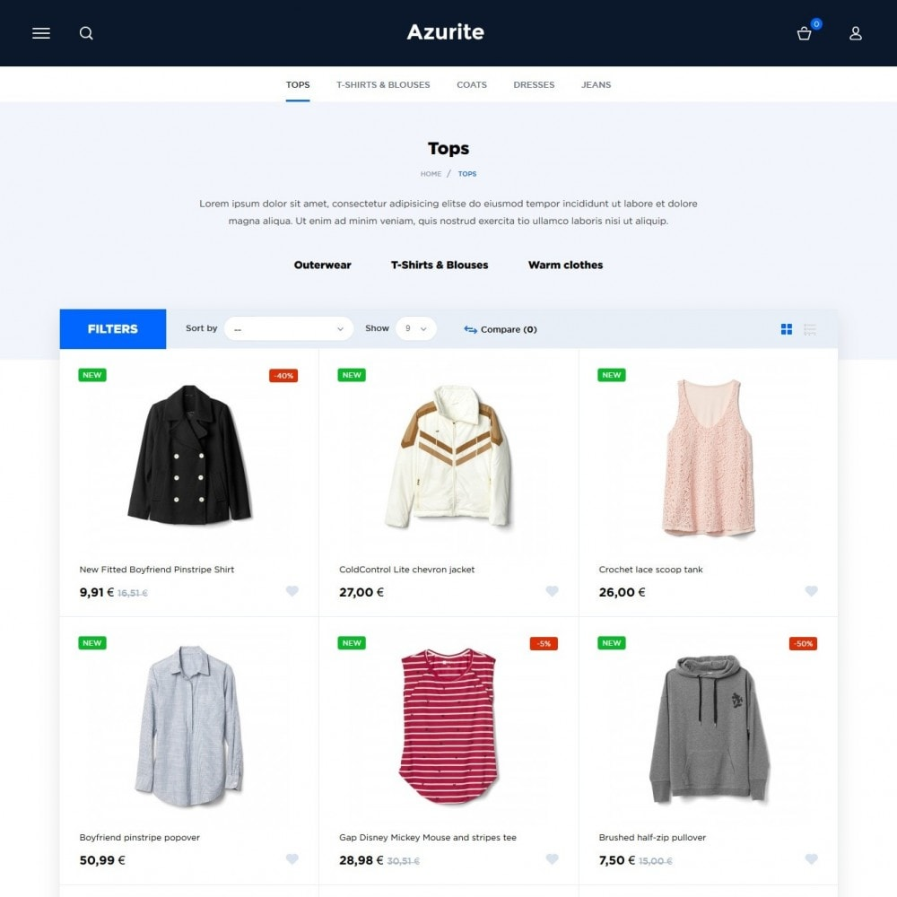 theme - Fashion & Shoes - Azurite Fashion Store - 4