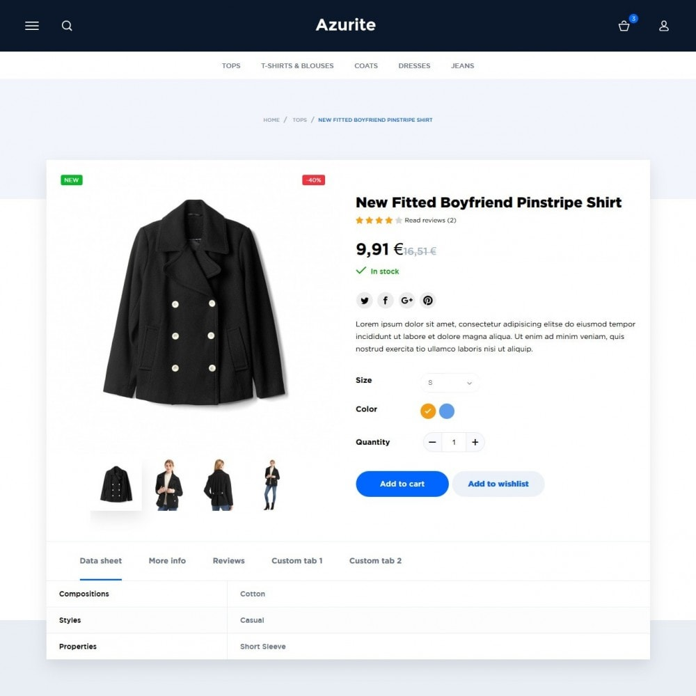 theme - Мода и обувь - Azurite Fashion Store - 5