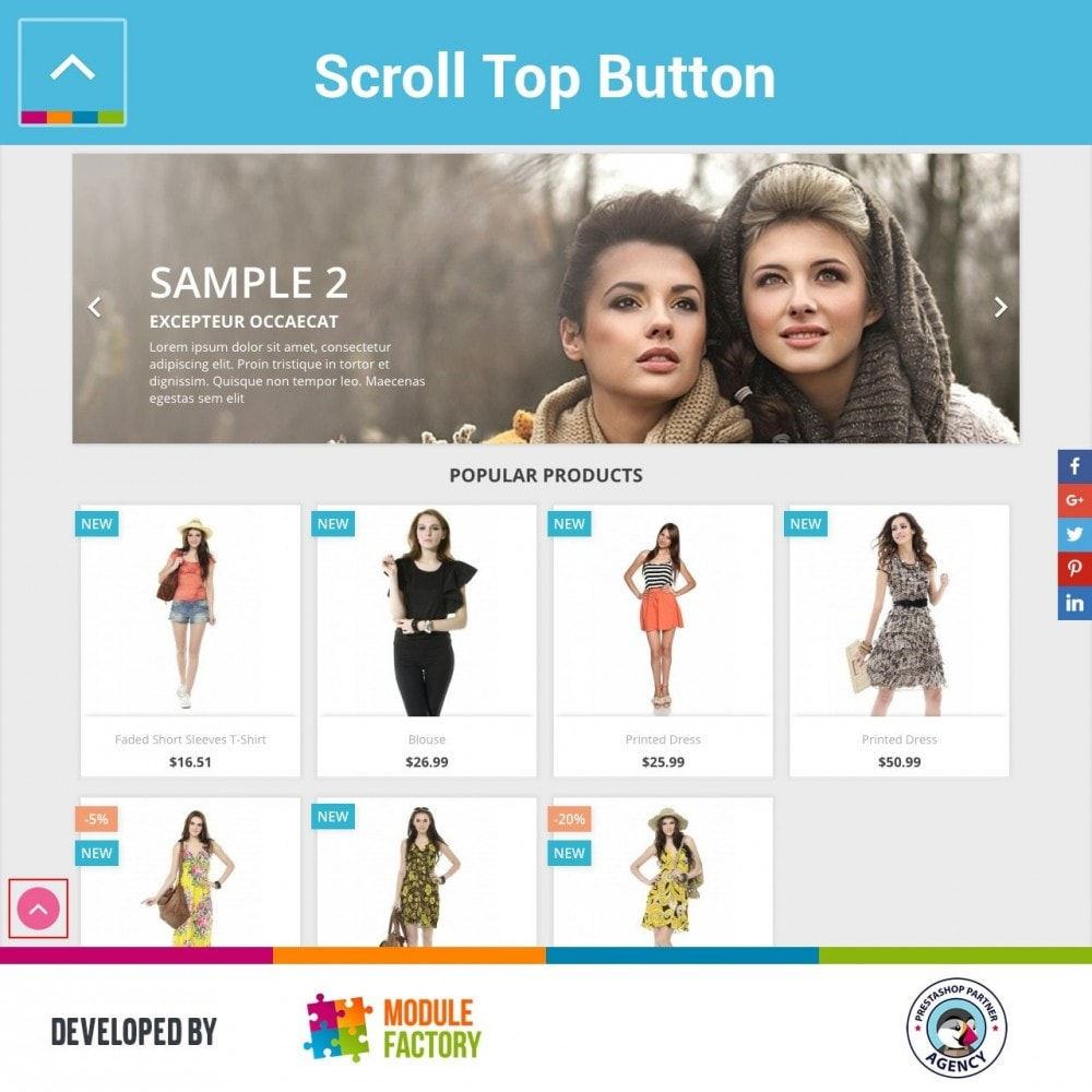 module - Tool di navigazione - Scroll Top Button - 3