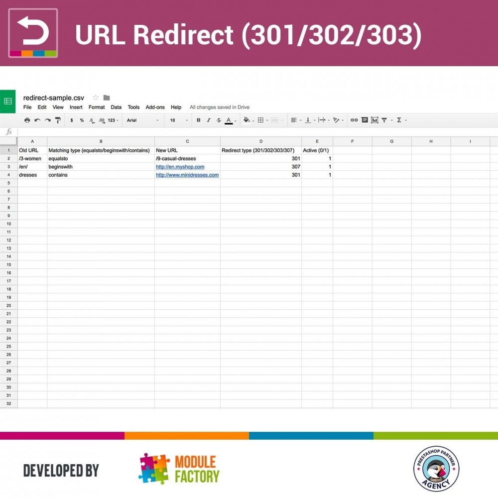module - URL & Redirections - URL Redirect (301/302/303) - 3