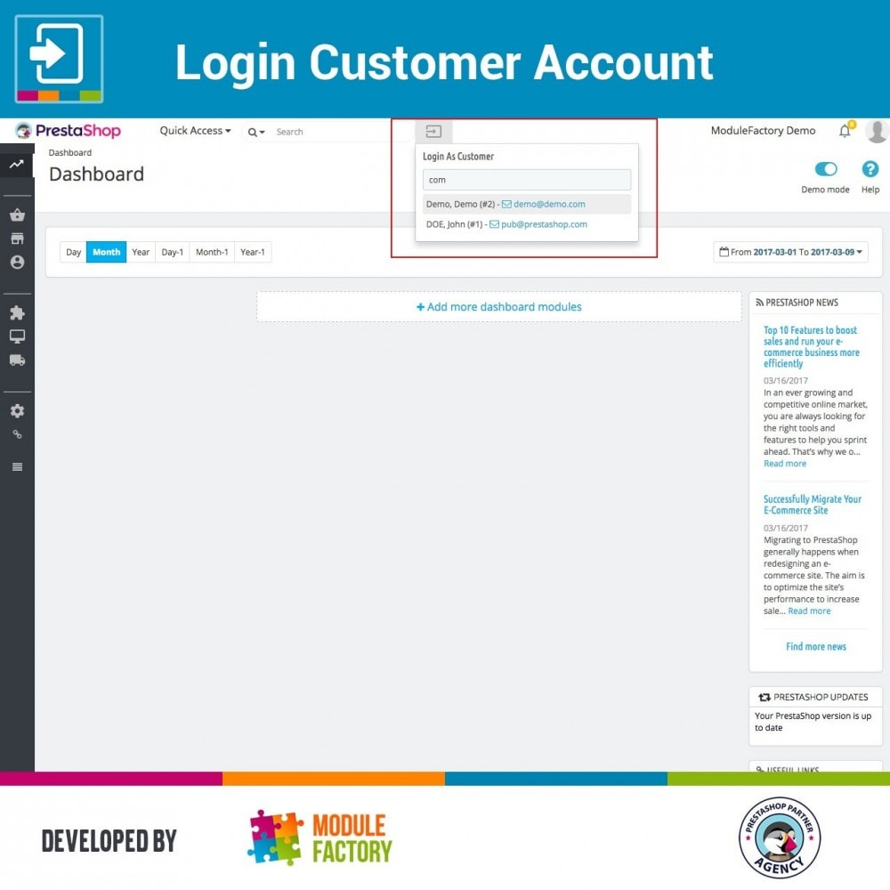 module - Service Client - Login Customer Account - 1