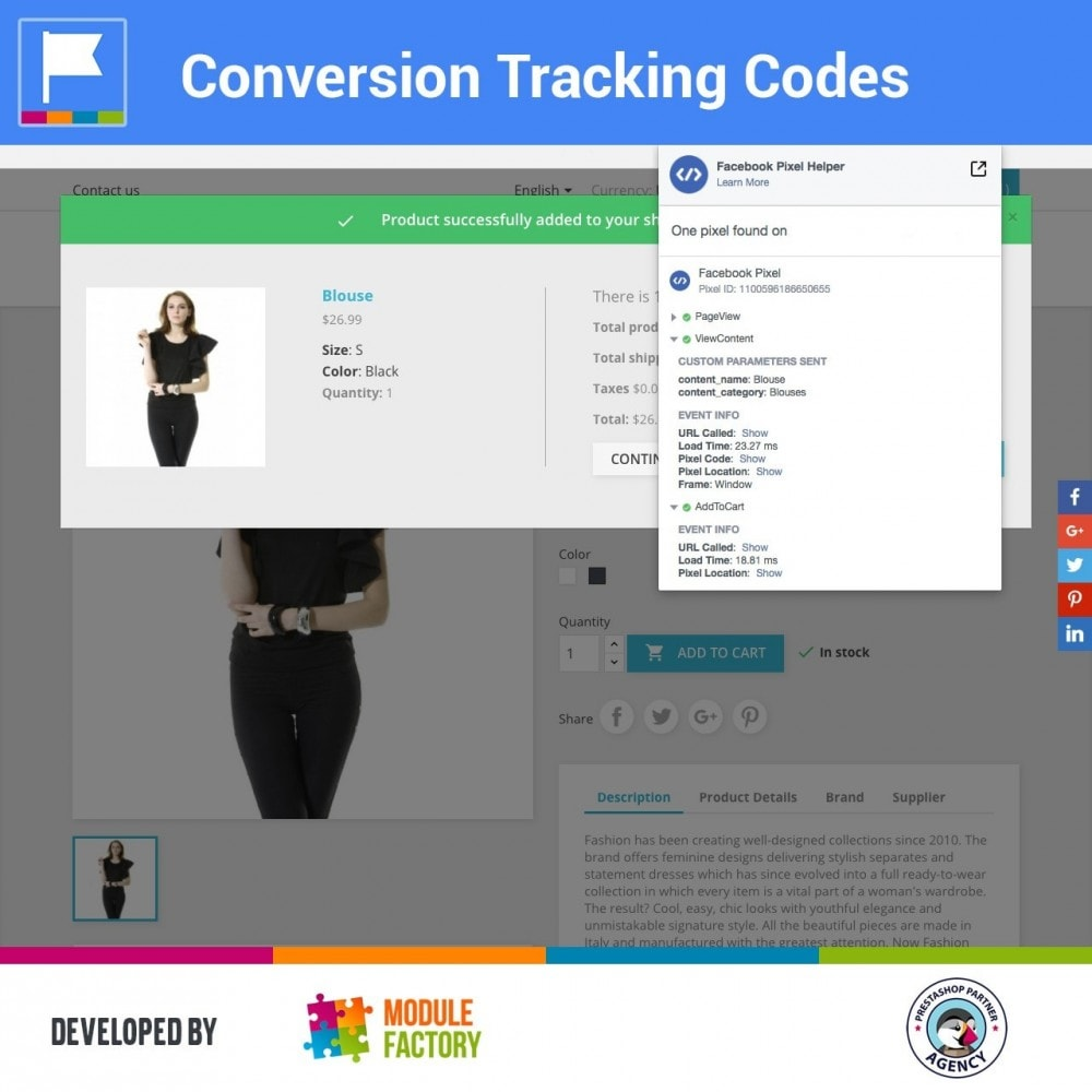 module - Analytics & Statistics - Conversion Tracking Codes for AdWords and Social - 1