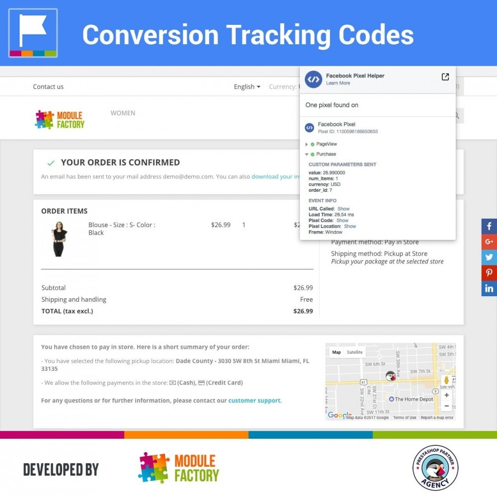 module - Analysen & Statistiken - Conversion Tracking Codes for AdWords and Social - 2