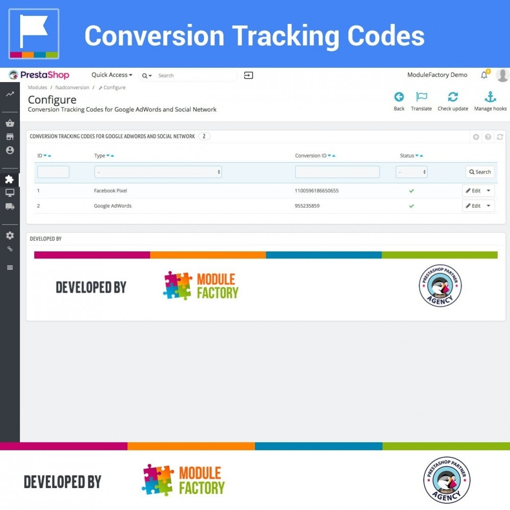 module - Analysen & Statistiken - Conversion Tracking Codes for AdWords and Social - 3