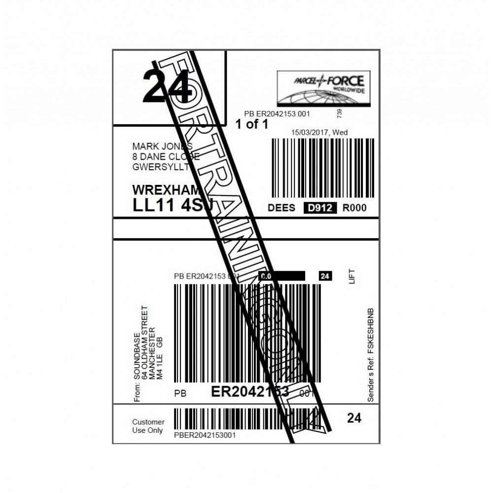 module - Preparazione & Spedizione - Parcelforce Label - 1