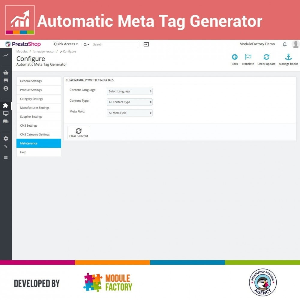 module - SEO - Automatic Meta Tag Generator for better SEO - 3