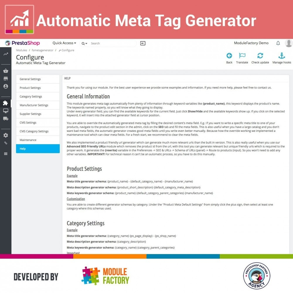 module - SEO (Referenciamento natural) - Automatic Meta Tag Generator for better SEO - 4
