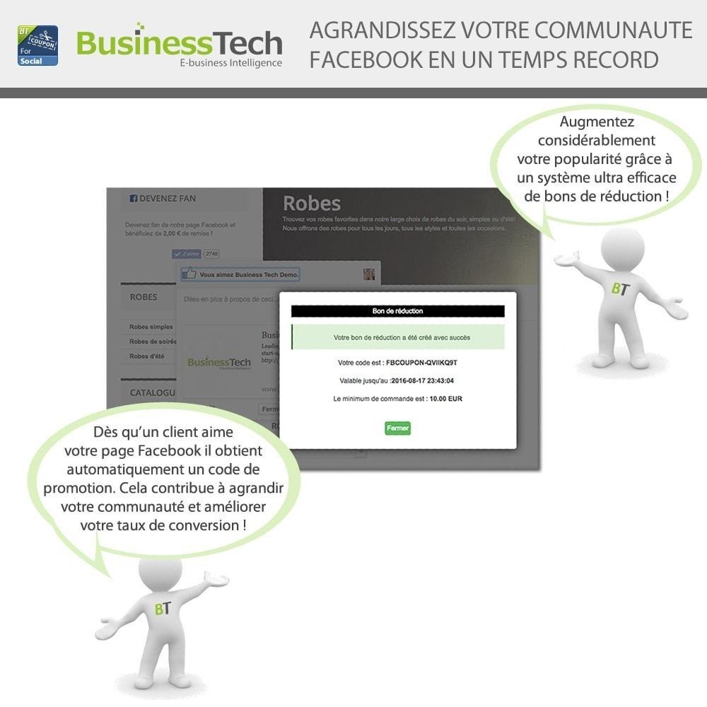 module - Bons de réduction sur les réseaux sociaux - Fan Coupon pour LE Réseau Social - 3