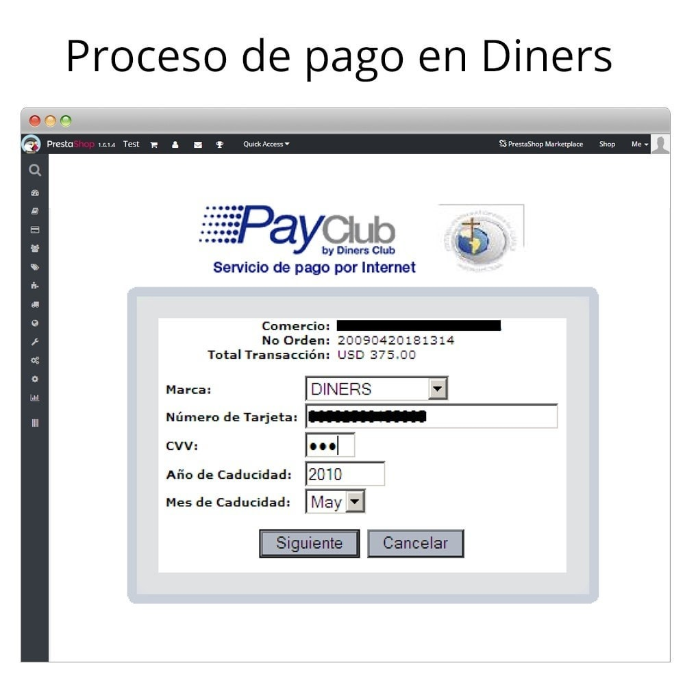 module - Payment by Card or Wallet - Interdin PayClub By Diners Club - 5