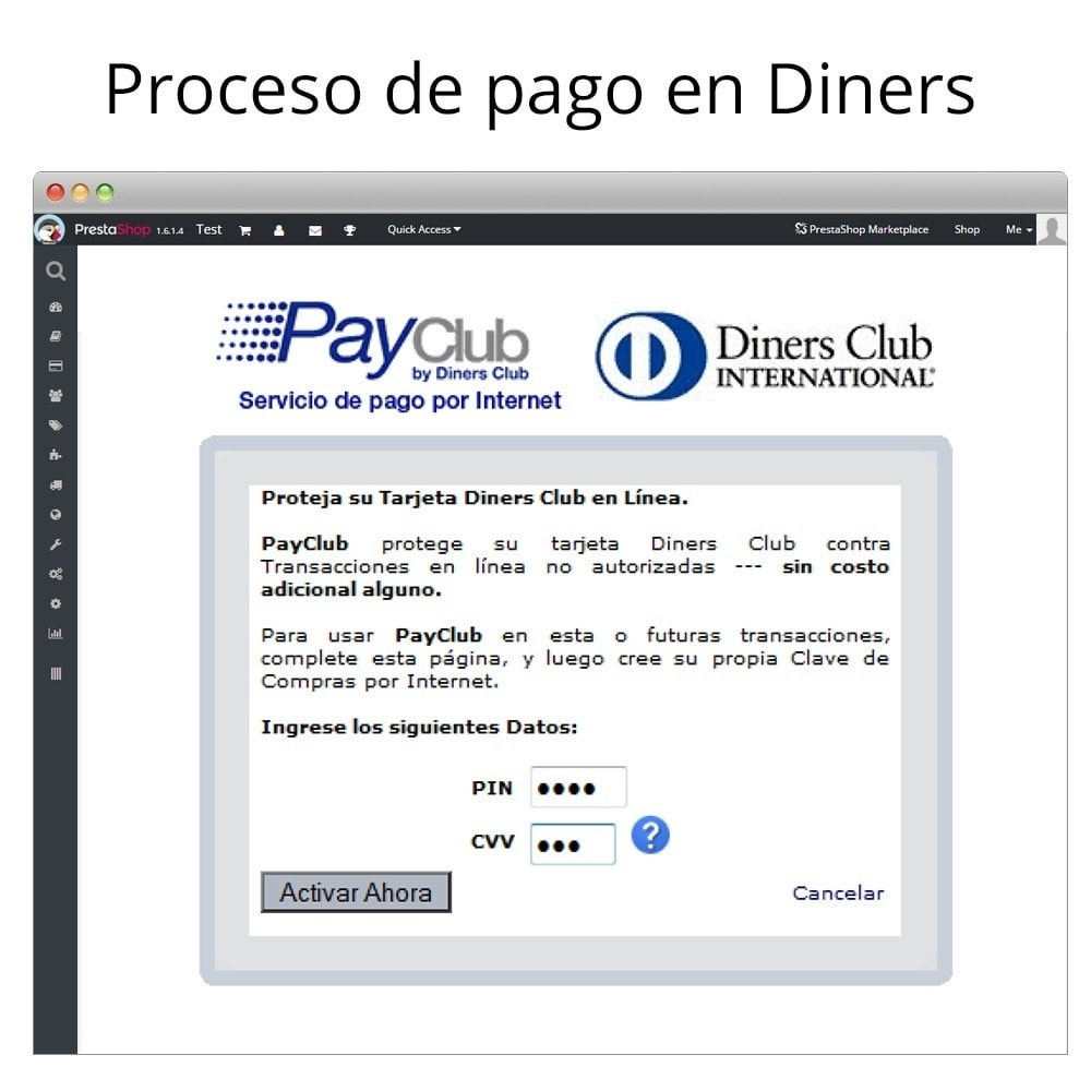 module - Paiement par Carte ou Wallet - Interdin PayClub By Diners Club - 6