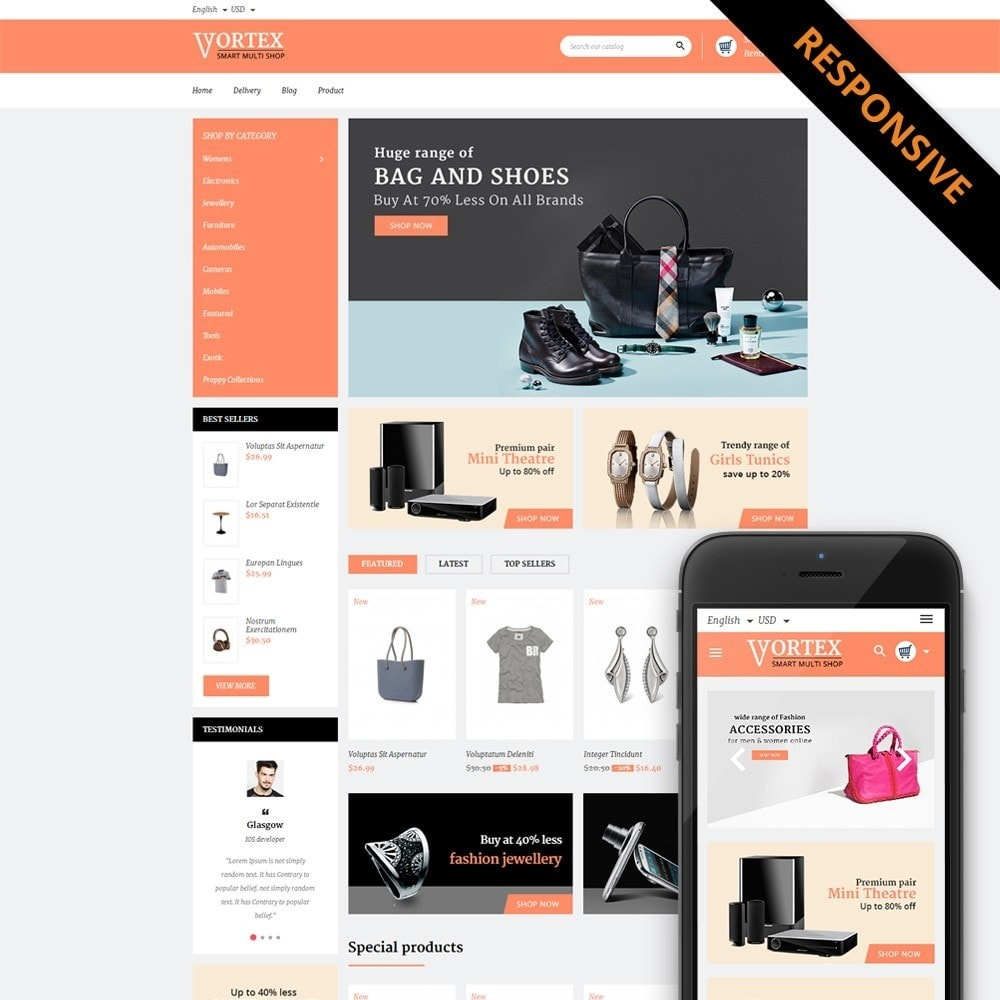 theme - Moda y Calzado - Vortex Smart Multishop - 1