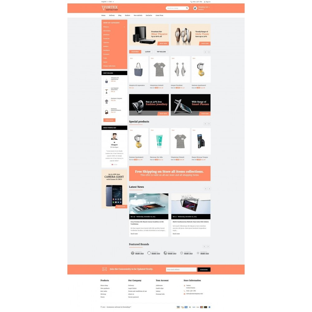 theme - Мода и обувь - Vortex Smart Multishop - 2