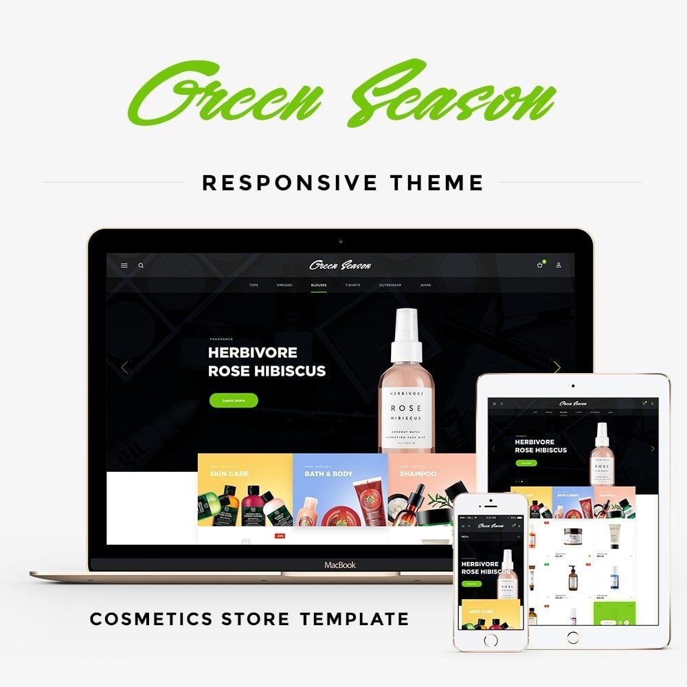 theme - Health & Beauty - Green Season Cosmetics - 1